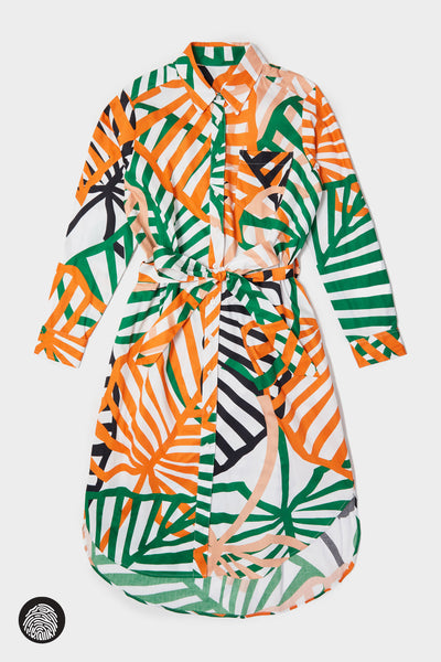 SHIRTDRESS / MULTI PALM | Megan Renee