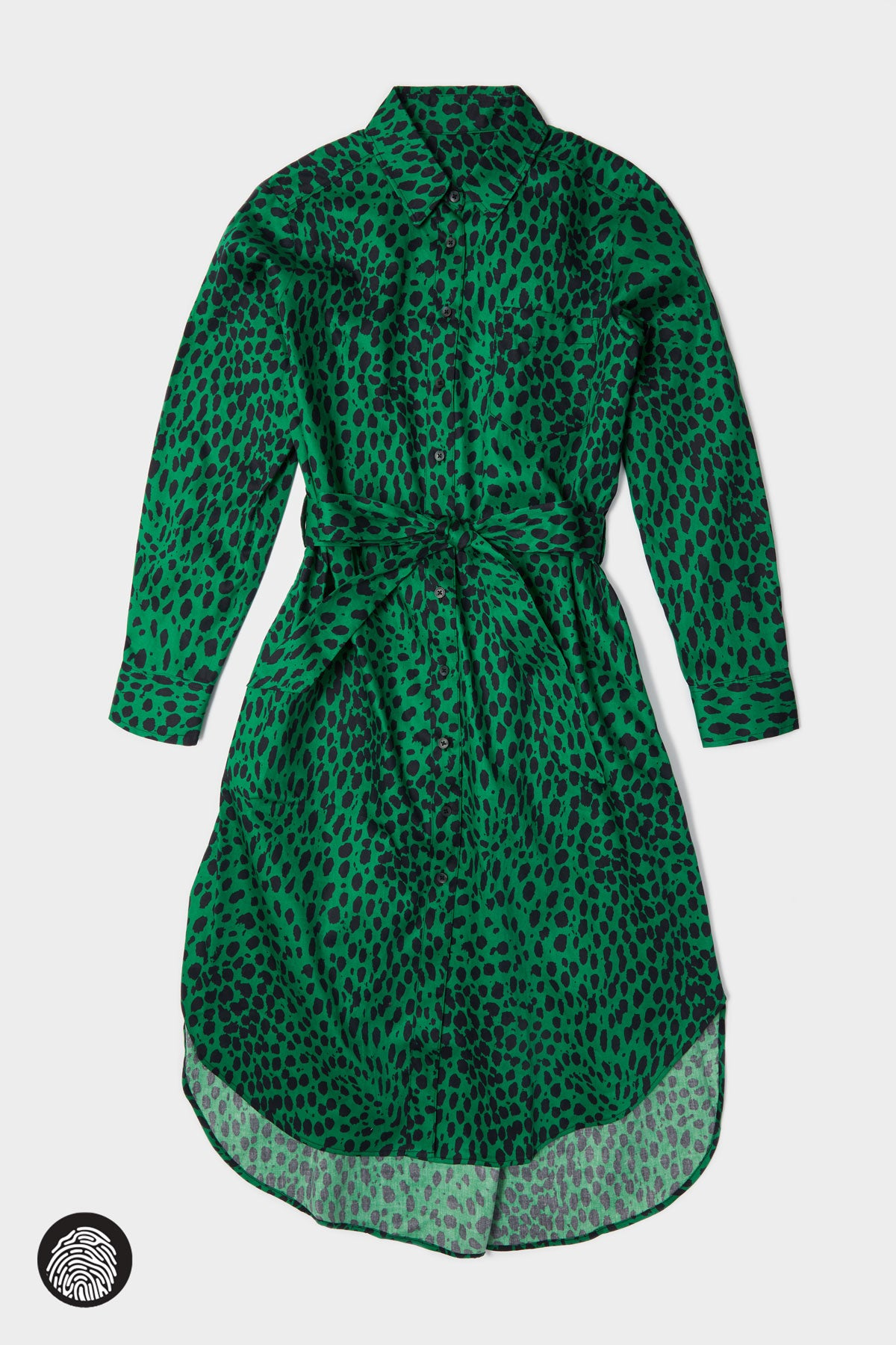 SHIRTDRESS  / LEOPARD PRINT GREEN | Megan Renee