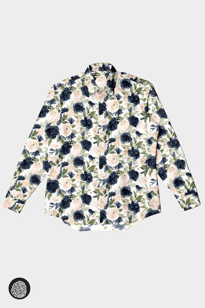 UNISEX BUTTON-UP FLANNEL / FLORAL | MAM Couture