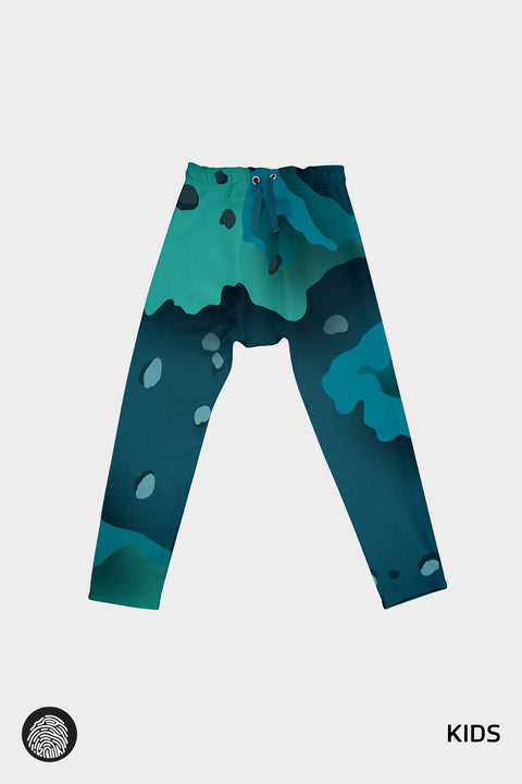 NEXUS 004 KIDS DROP CROTCH PANT / 3D CAMØ | MOON/5UN