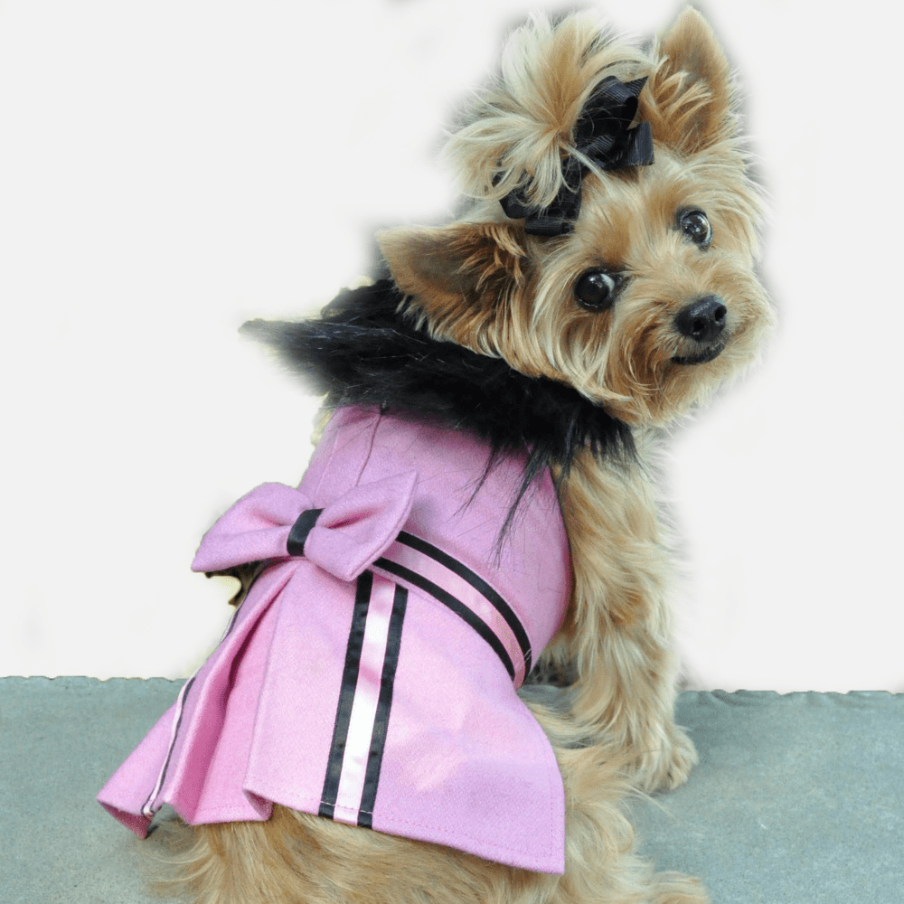 Antoinette Winter Wool Fur Coat Jacket for Dogs | Milan Pets Clothing Coat