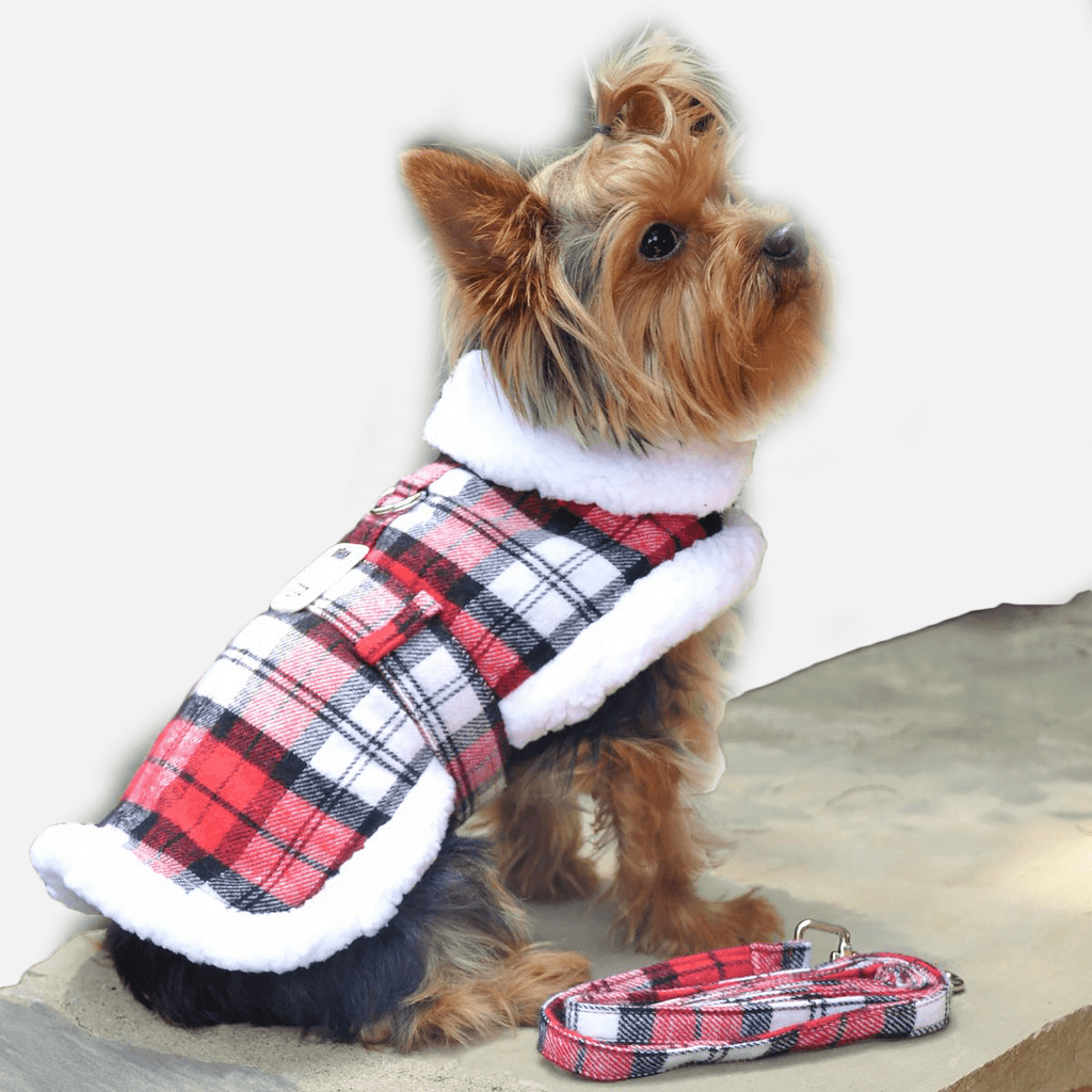 Maple Plaid Coat Vest for Dogs | Milan Pets Winter Clothing Apparel Coat