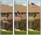 20' Presidential Telescoping Flagpole - Bronze