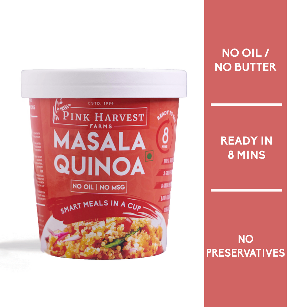 Ready To Eat Quinoa Cup, Oil free, Preservative Free, Low Cholestrol, Diabetic Friendly, Weight Loss, healthy meal, High protein nutrition, High Fiber, Masala Upma