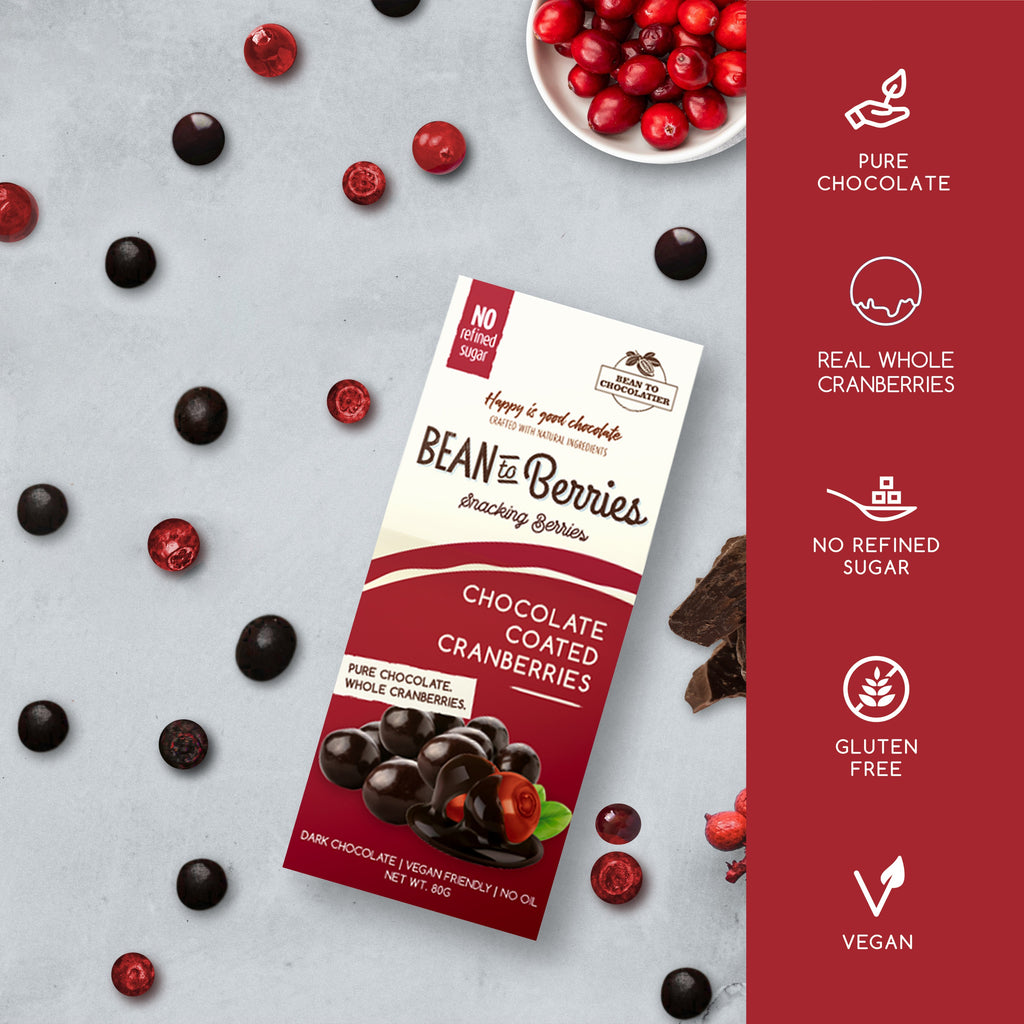 Valentine's gift, vegan gluten free snacking dark cranberries chocolates. Healthy, gift for boyfriend girlfriend.