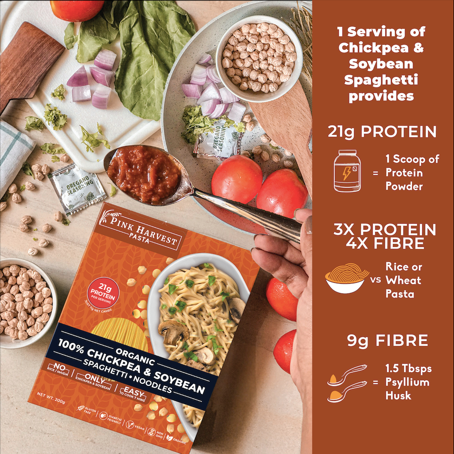 Chickpea and Soybean Spaghetti Noodles Pasta, Vegan Gluten free, No Maida, Healthy, High Protein nutrition, organic edamame , weight loss, High Fiber, low carb