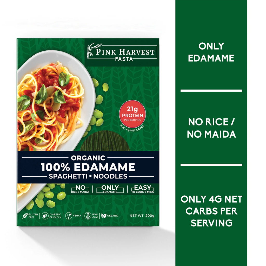 Keto friendly Edamame Spaghetti Noodles Pasta, Vegan Gluten free, No Maida, Healthy, High Protein nutrition, organic, weight loss, High Fiber, low carb, Diabetic Friendly