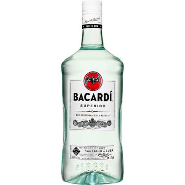 BACARDI SILVER LIGHT (SUPERIOR) 80@ PUERTO RICO RUM 750ml