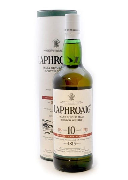 LAPHROAIG CASK STRENGTH 10 YEAR 750mL