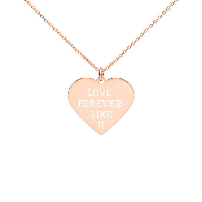 Forever Love Engraved Silver Heart Necklace