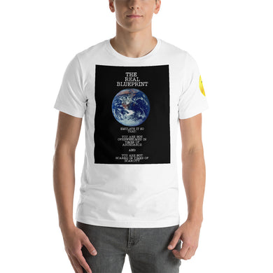 Blue Print Short-Sleeve Unisex T-Shirt