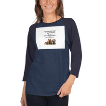 Load image into Gallery viewer, Kids Allergy 3/4 sleeve raglan shirt