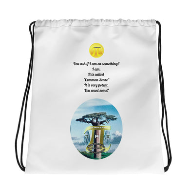 Common sense Drawstring bag