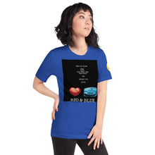 Load image into Gallery viewer, Blue and Red Short-Sleeve Unisex T-Shirt