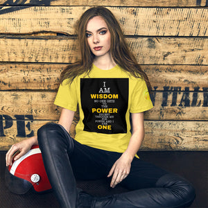 Power and Wisdom Short-Sleeve Unisex T-Shirt