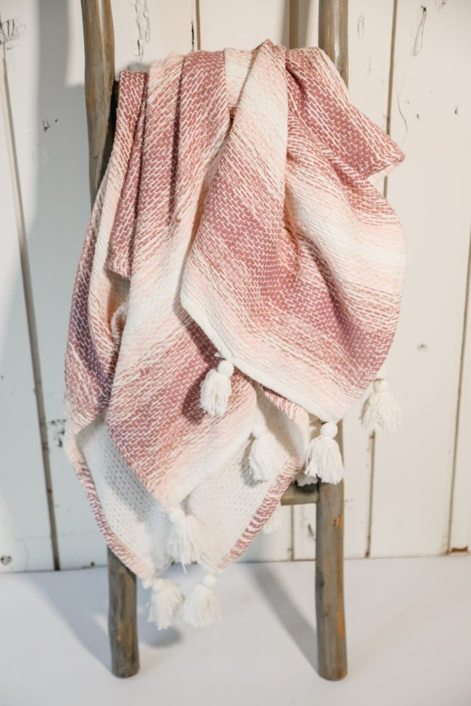 Woven Pink Ombre with Tassels