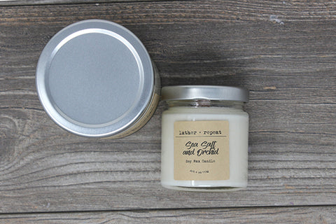 The Sea Salt and Orchid Soy Candle