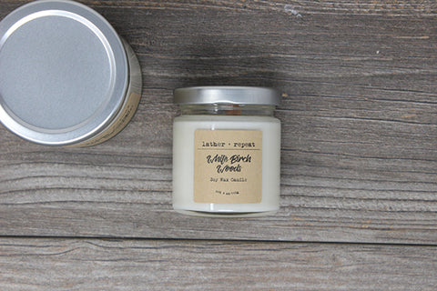 The White Birch Woods Soy Candle