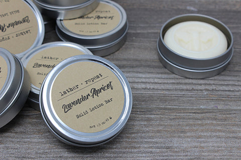 The Lavender Apricot Lotion Bar