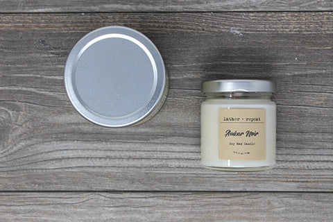 The Amber Noir Soy Candle