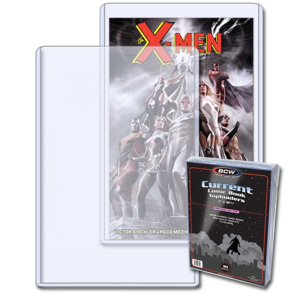 COMIC TOPLOAD HOLDER x 10 (BCW) - FREE SHIPPING!