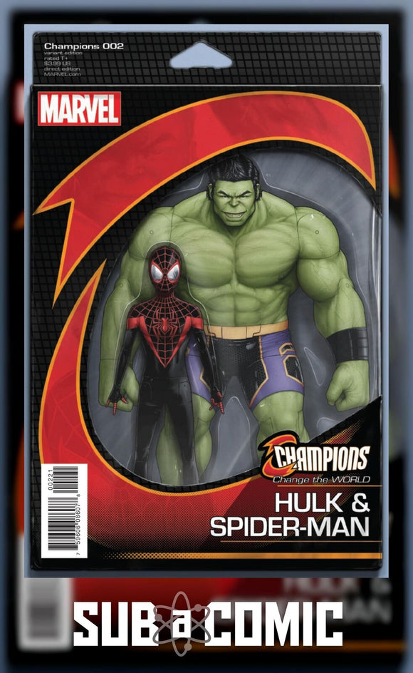 CHAMPIONS #2 CHRISTOPHER ACTION FIGURE VARIANT (MARVEL 2016 1st Print)