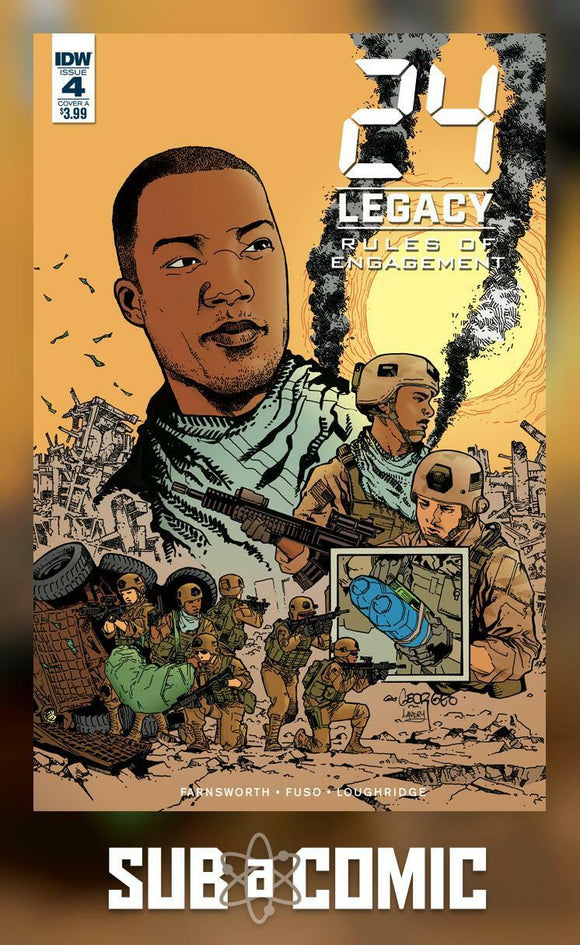 24 LEGACY RULES OF ENGAGEMENT #4 COVER A JEAN (IDW 2017 1st Print)