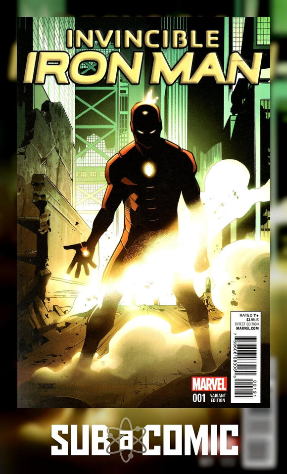INVINCIBLE IRON MAN #1 ASRAR YOUNG GUNS VARIANT (MARVEL 2015 1st Print)