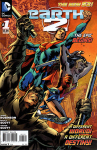 EARTH 2 #1 1:25 VARIANT COVER (DC 2012 1st Print)