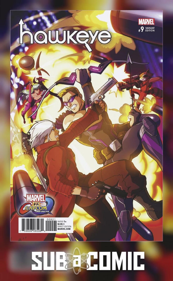 HAWKEYE #9 PORTER MARVEL VS CAPCOM VARIANT (MARVEL 2017 1st Print)