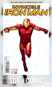 INVINCIBLE IRON MAN #1 MARQUEZ YOUNG GUNS VARIANT (MARVEL  1st Print)