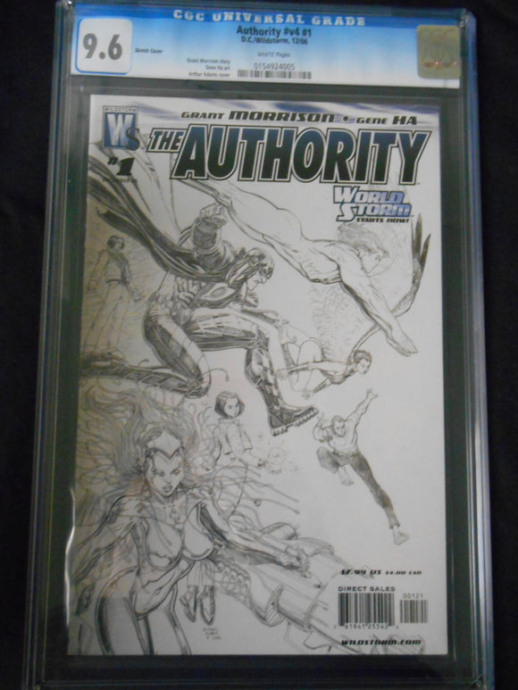 AUTHORITY VOL 4 #1 (SKETCH COVER) CGC 9.6 (DC/WILDSTORM COMICS 2006)