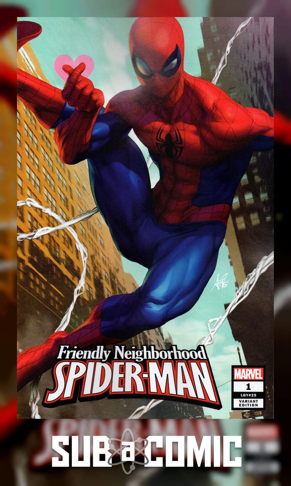 FRIENDLY NEIGHBORHOOD SPIDER-MAN #1 ARTGERM VARIANT (MARVEL 2019)