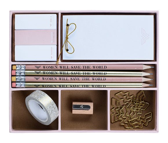 WONDER WOMAN SAVE THE WORLD PREMIUM STATIONARY SET