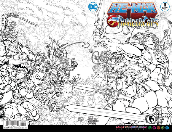 HE MAN THUNDERCATS #1 COLORING BOOK VARIANT (DC 2016 1st Print)
