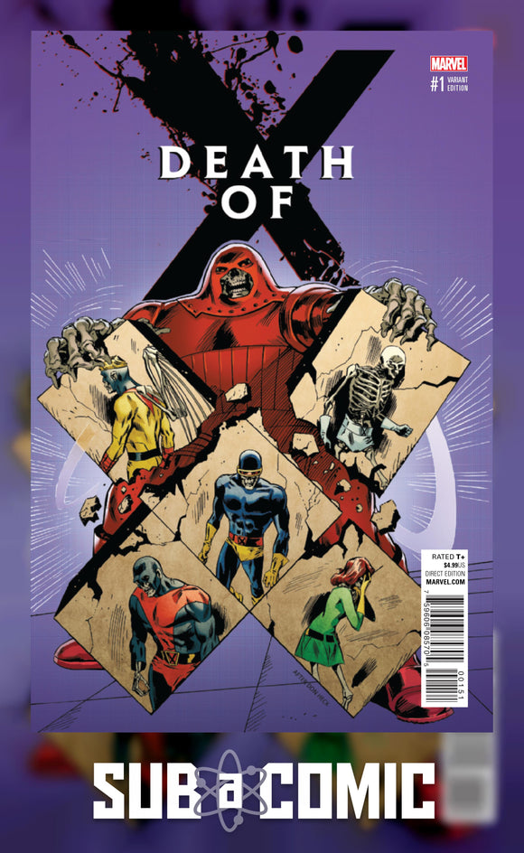 DEATH OF X #1 GUICE CLASSIC VARIANT (Marvel 2016 1st Print) COMIC