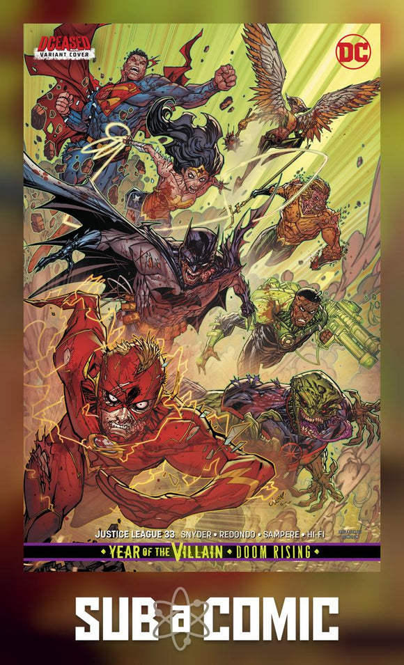 JUSTICE LEAGUE #33 CARD STOCK VARIANT (DC 2019 1st Print)