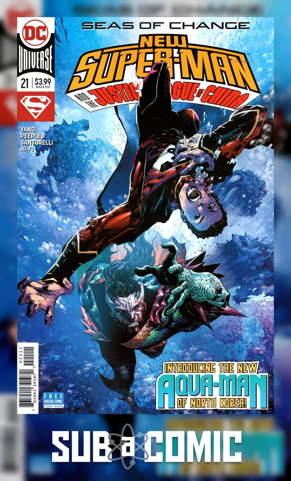 NEW SUPER MAN & THE JUSTICE LEAGUE OF CHINA #21 (DC 2018 1st Print)