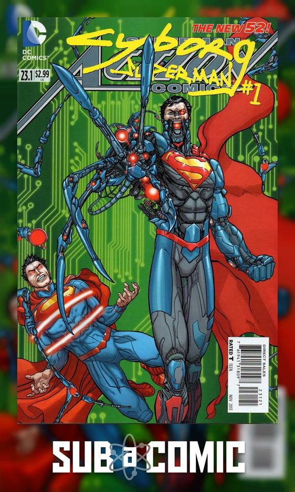 ACTION COMICS #23.1 CYBORG SUPERMAN STANDARD COVER (DC COMIC 2013 1st Print)