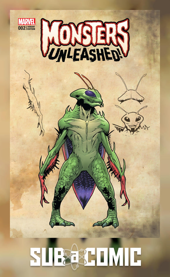 MONSTERS UNLEASHED #2 LAND MONSTER VARIANT (MARVEL 2017 1st Print) Comic
