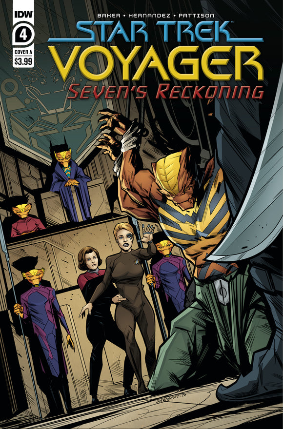 STAR TREK VOYAGER SEVENS RECKONING #4 COVER A (IDW 2021 1st Print)