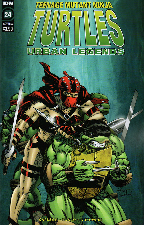 TMNT URBAN LEGENDS #24 COVER A FOSCO (IDW 2020 1st Print)