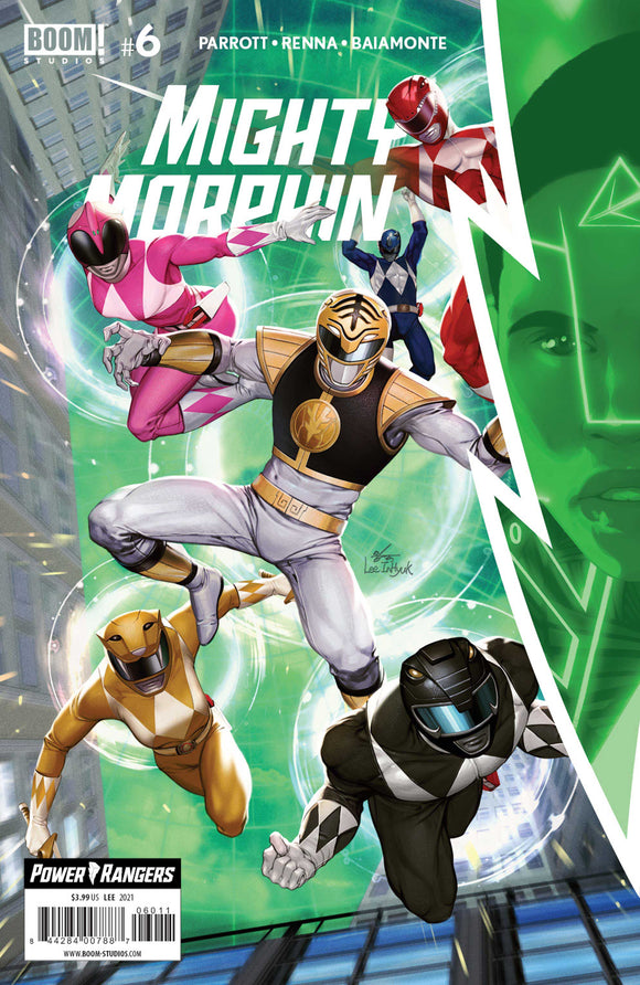 MIGHTY MORPHIN #6 COVER A LEE (BOOM! STUDIOS 2021 1st Print)