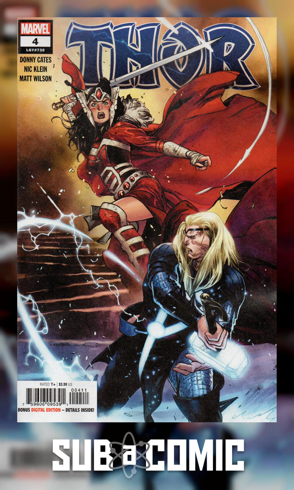 THOR #4 (MARVEL 2020 1st Print) 1st App Black Winter