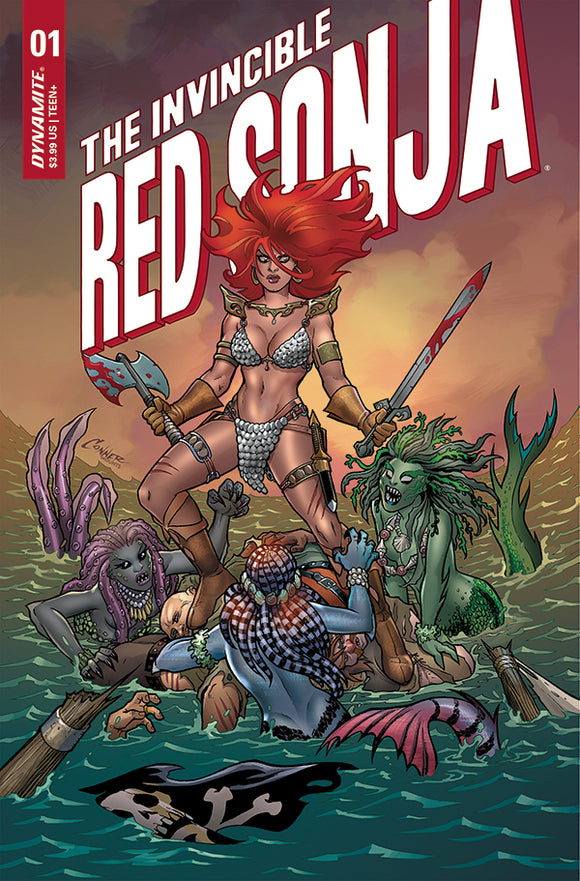 INVINCIBLE RED SONJA #1 COVER A CONNER (DYNAMITE 2021 1st Print)