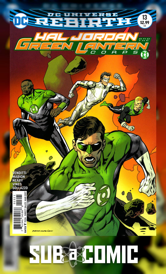HAL JORDAN AND THE GREEN LANTERN CORPS #13 VARIANT (DC 2017 1st Print) Comic
