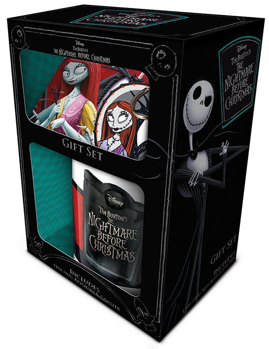 NIGHTMARE BEFORE CHRISTMAS MUG, COASTER AND KEYCHAIN SET