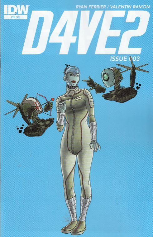 D4VE2 #3 SUB COVER (IDW COMICS)