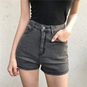 Open image in slideshow, Basic High Waist Denim Shorts