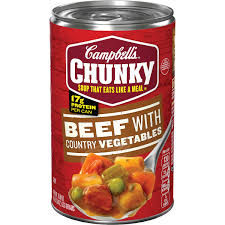 Campbell's Beef with Country Vegetable Soup - 15.25 oz. Can - Groveland General